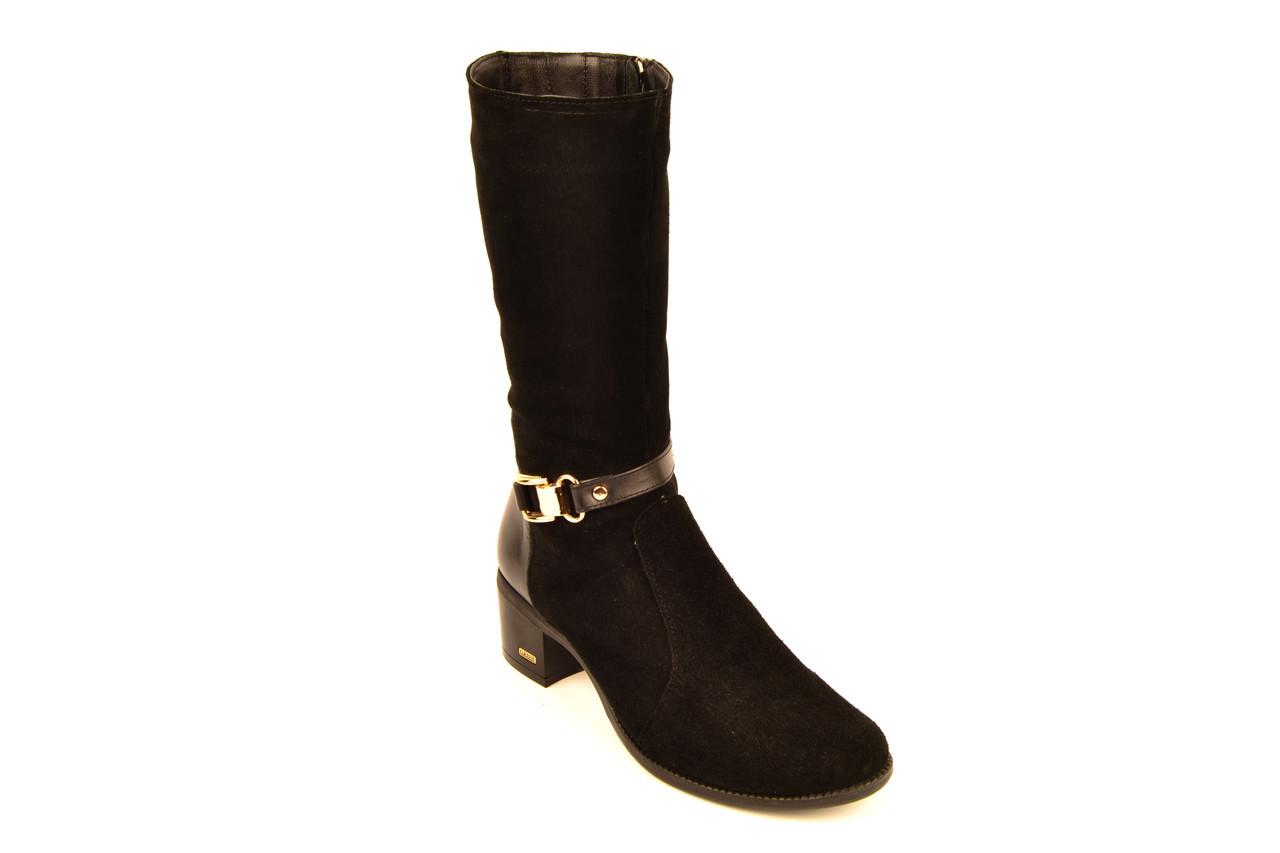 Полусапожки женские зимние черные замшевые Karmen 134007. Женская обувь