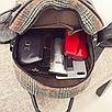 Рюкзак женский шерстяной с помпоном Серый, фото 5
