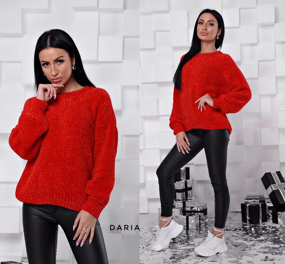 Женский свободный свитер без горловины 55sv499