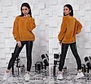Женский свободный свитер без горловины 55sv499, фото 4