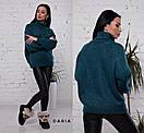 Свободный женский свитер-туника с горлом 55sv500, фото 4