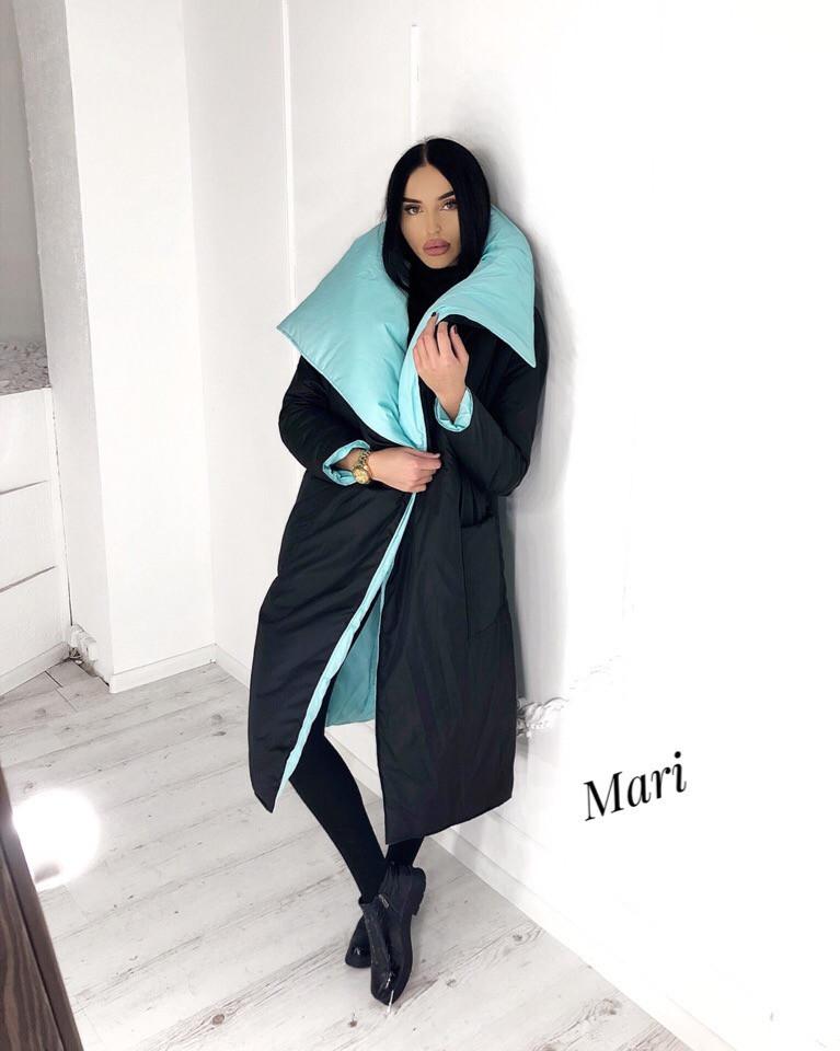 Матовая куртка-одеяло двухсторонняя 63kr181