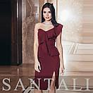 Платье на одно плечо с воланами 45py2311, фото 2