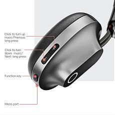 Оригінальні Bluetooth навушники гарнітура Baseus Encok D01 Gray, фото 3