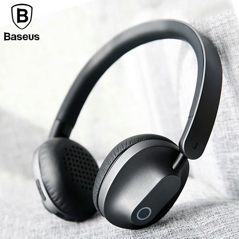 Оригінальні Bluetooth навушники гарнітура Baseus Encok D01 Gray