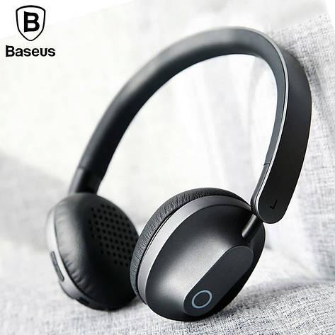 Оригінальні Bluetooth навушники гарнітура Baseus Encok D01 Gray, фото 2