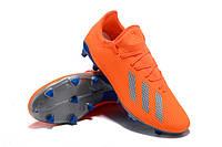 Футбольные бутсы adidas X 18.3 FG Solar Orange/Clear Grey/Shock Blue, фото 1