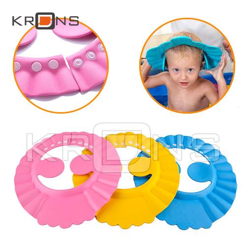 Детский регулируемый козырек для мытья головы с защитой для ушей