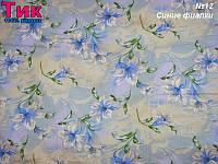 Ткань - Тік напірниковий Сині фіалки  !