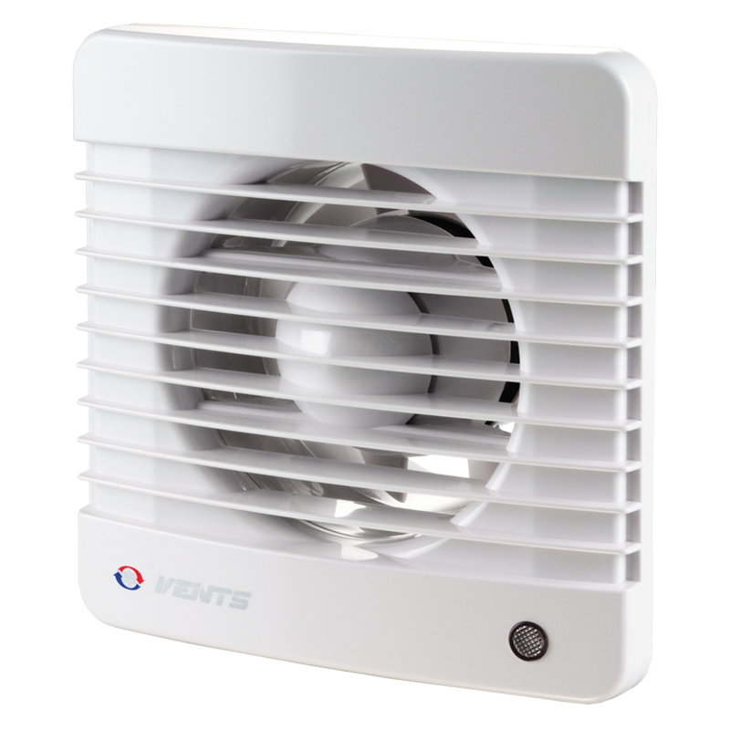 Вентилятор осевой Вентс 125 М В турбо, микровыключатель, вытяжной, мощность 22Вт, объем 232м3/ч, 220В, гарантия 5лет