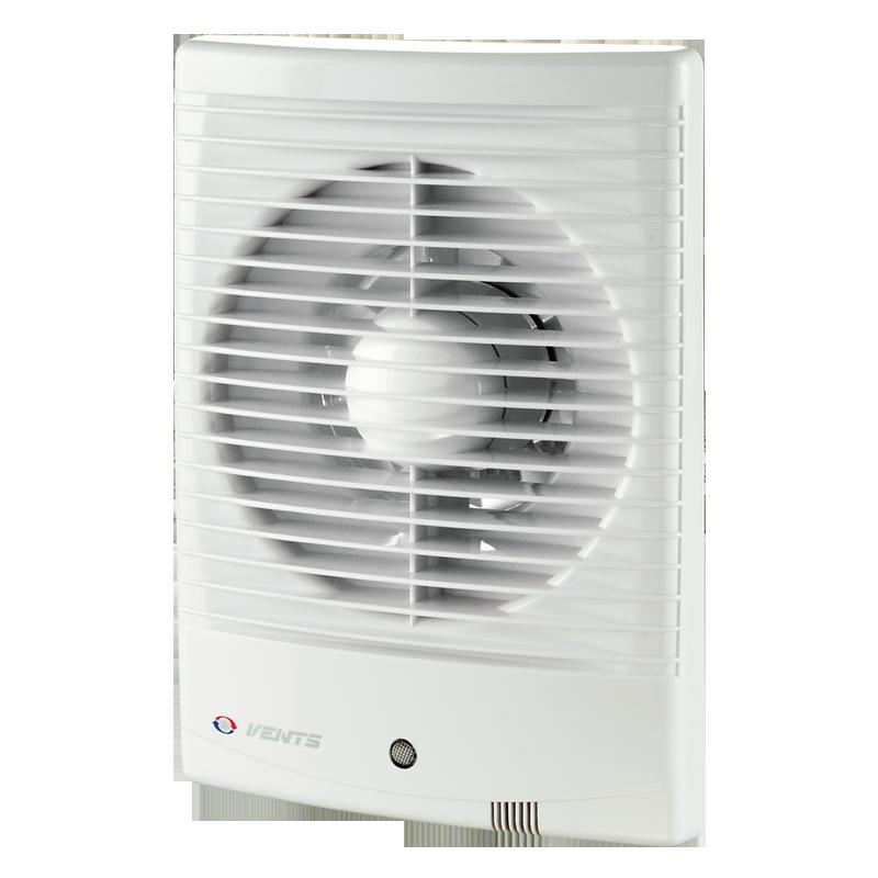 Вентилятор осевой Вентс 100 М3 ВТН, микровыключатель, таймер, датчик влажности, вытяжной, мощность 14Вт, объем 98м3/ч, 220В, гарантия 5лет