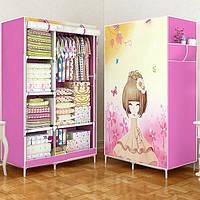 Тканевый каркасный шкаф с рисунком «D6-04 Аниме»