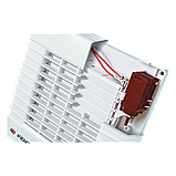 Вентилятор осевой Вентс 100 МА Л турбо, жалюзи, подшипник, вытяжной, мощность 20Вт, объем 128м3/ч, 220В, гарантия 5лет, фото 3