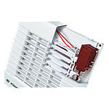 Вентилятор осевой Вентс 125 МА ТЛ турбо, жалюзи, таймер, подшипник, вытяжной, мощность 29Вт, объем 232м3/ч, 220В, гарантия 5лет, фото 2