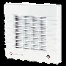 Вентилятор осевой Вентс 100 МА Л пресс, жалюзи, подшипник, вытяжной, мощность 20Вт, объем 99м3/ч, 220В,