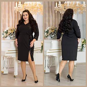 Вечернее платье в больших размерах с разрезом на ноге 10uk1282