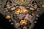 """Платок шерстяной с шелковой бахромой """"Праздник Покрова"""", 146x146 см рис 754-9, фото 5"""