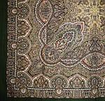 """Платок шерстяной с шелковой бахромой """"Ларец самоцветный"""", 146x146 см рис 762-10, фото 2"""