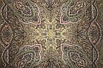 """Платок шерстяной с шелковой бахромой """"Ларец самоцветный"""", 146x146 см рис 762-10, фото 3"""