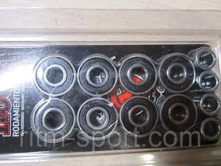 Набор подшипников АВЕС-5 и втулок для скейтборда SK-2161 (металл, 8 подшипников ABEC-5, 4 втулки) , фото 2