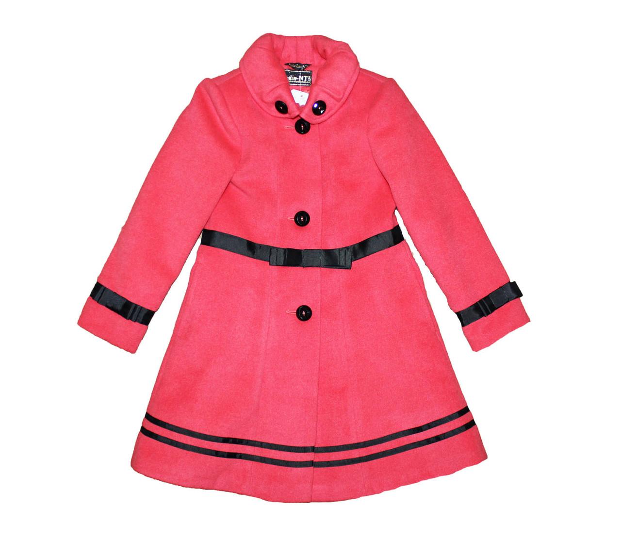 Пальто детское подростковое кашимировое для девочки. Лилия.