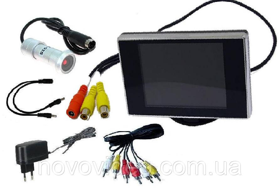 Система видеонаблюдения  - видеоглазок дверной с монитором