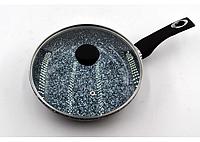 Сковорода Benson с антипригарным гранитным покрытием и крышкой 26x6см