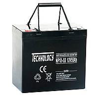Аккумулятор AGM 12В 55Ач TECHNOLOGY NP12-55