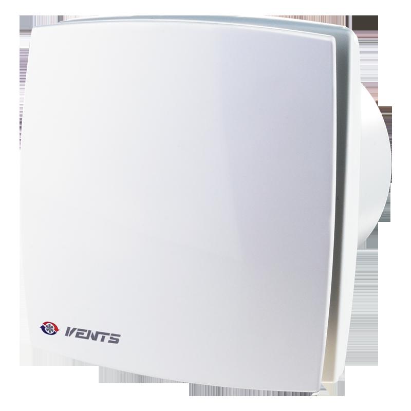 Вентилятор осевой Вентс 125 ЛД ВЛ турбо, микровыключатель, подшипник, вытяжной, мощность 24Вт, объем 209м3/ч, 220В, гарантия 5лет