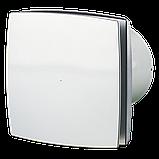 Вентилятор осевой Вентс 125 ЛД турбо, микровыключатель, таймер, датчик влажности, клапан, вытяжной, мощность 24Вт, объем 209м3/ч, 220В, гарантия 5лет, фото 2