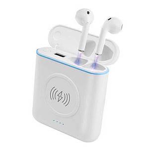 3 в 1 Беспроводная Bluetooth-гарнитура+ беспроводное зарядное устройство + Power Mobile Bank