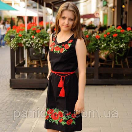 Платье вышитое лен Маковая роса | Плаття вишите льон Макова роса, фото 2