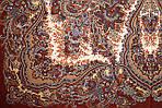 """Платок шерстяной с шелковой бахромой """"Чародейка"""", 125х125 см, рис 727-16, фото 3"""