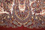 """Платок шерстяной с шелковой бахромой """"Чародейка"""", 125х125 см, рис 727-16, фото 5"""