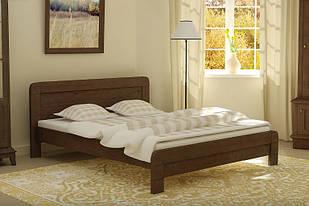 Ліжко односпальне в спальню, дитячу з натурального дерева 90х200 Тоскана Mebigrand