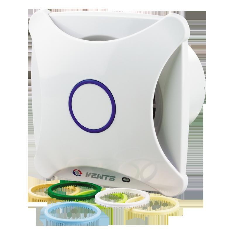Вентилятор осевой Вентс 150 Х , микровыключатель, таймер, датчик влажности, клапан, вытяжной, мощность 24Вт, объем 258м3/ч, 220В, гарантия 5лет