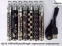 Аккумуляторы для электронных сигарет EGO-K 1100mah passthrough варивольт, фото 1