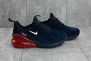 Мужские демисезонные кроссовки Nike Air 270 сине-красные топ реплика, фото 2