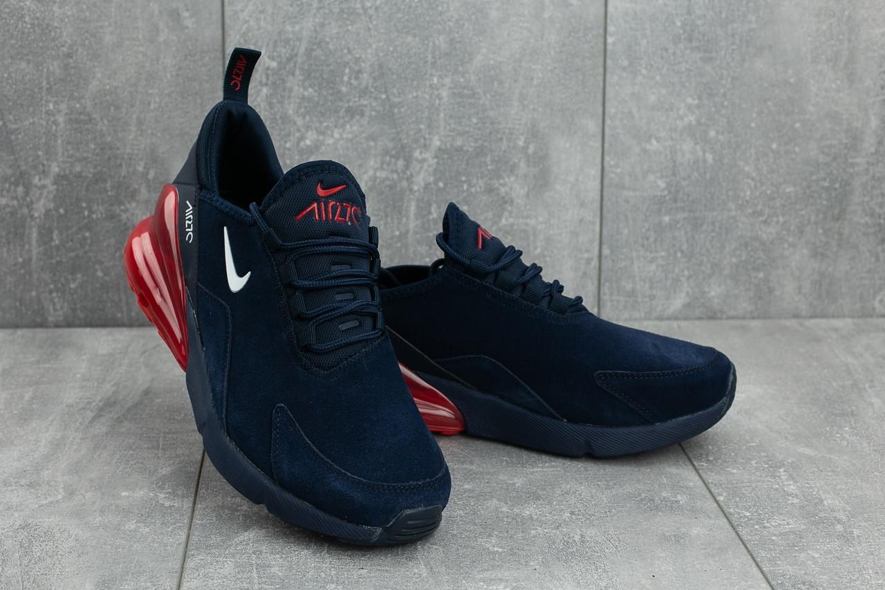 Мужские демисезонные кроссовки Nike Air 270 сине-красные топ реплика