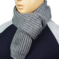"""Чоловічий в'язаний шарф Apex Sport """"STEP""""grey світло-сірого кольору"""