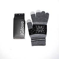 1020 перчатки для сенсорных экранов мужские купить серые орнамент, фото 1