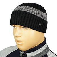 Стильная мужская шапка в стиле G.Armani G.A 18 с отворотом