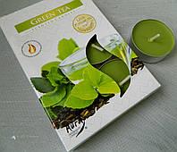 Свічка таблетка Зелений чай №27242, 4*1,5 см Свеча таблетка Зеленый чай
