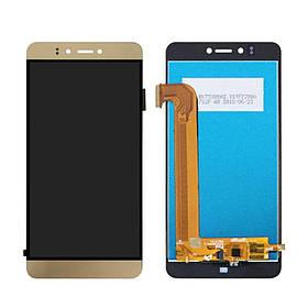 Дисплей (экран) для Prestigio MultiPhone PSP3530 Muze D3 с сенсором (тачскрином) золотистый Оригинал