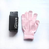 1015 перчатки для сенсорного телефона iglove розовые