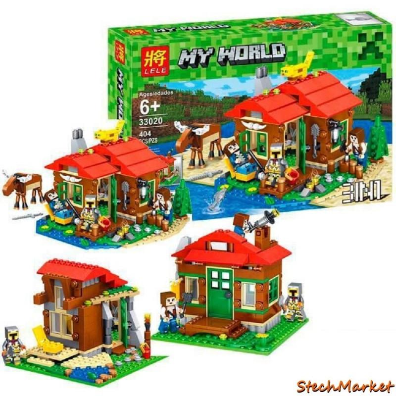 """Конструктор """"Домик у озера"""" Lele Minecraft 33020 404 детали"""