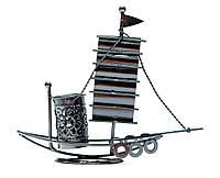 "Техно-арт подставка под ручки ""парусник"" металл (17х20х5,5 см)(j042c)"