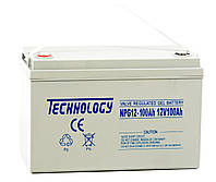 12В гелевый аккумулятор GEL 12В 100Ач TECHNOLOGY NPG12-100