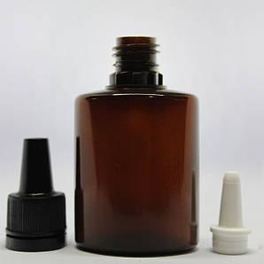 Флакон 30 мл пластиковый  коричневый