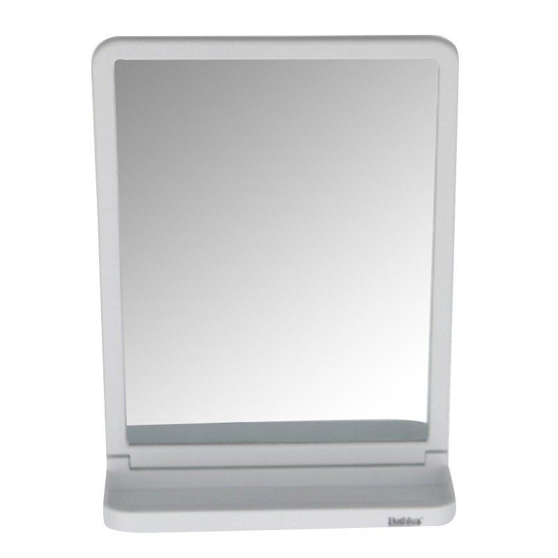 Зеркало с полочкой на вакуумной присоске 20х29.9 см Bathlux 30144